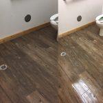 dirty bathroom floor clean bathroom floor