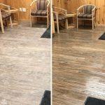 dirty wood floor clean wood floor